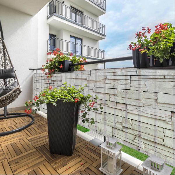 Balcony Rocky Wall